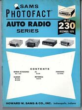 Sams Photofact-Auto Radio Manual/#AR-230/First Edition-First Print/1976