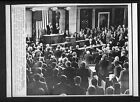 Vtg AP Wire Press Photo President Ronald Reagan Gets Standing Ovation 1987