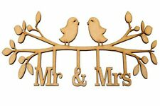 Wooden MDF Craft Shapes Mr & Mrs Family Tree Wedding Valentines Frame Decoration