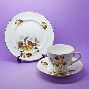 Elizabethan 'Lemon Grove' Tea Cup, Saucer, Plate, Vintage, England