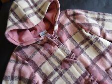 NEXT Toller rosa Karo Dufflecoat Kurzmantel mit Fleece gefüttert Gr.10Y 140
