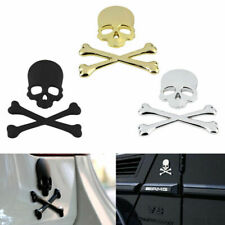1x Cool Car Truck 3D Metal Skull Head Bone Logo Modified Emblem Sticker Decal