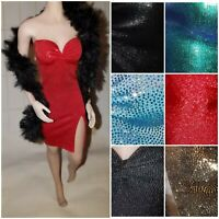 1/6 Scale tbleague Phicen Hottoys Cocktail Dress and Boa Handmade MANY COLORS
