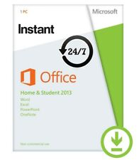 Microsoft Office Home and Student 2013 | License 1 PC Media & Card-less Instant