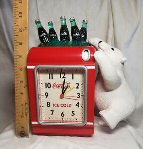 Coca Cola Alarm Clock Polar Bear Coin Bank Ice Cold Ice Chest With Coke Bottles