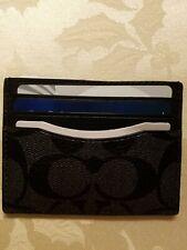 Coach Mens Credit Card/ID Wallet  - Signature  Black NWT