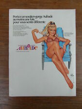 PUBLICITE ANCIENNE VINTAGE ADVERTISING / LINGERIE AUBADE ill. ASLAN 1972