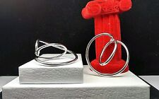 GUESS COLLECTION Sterling Silver 925 - Interwoven SLING 11.4g - Hoop Earrings 2""