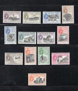 Sierra Leone 1956 Complete QEII Set -OG MLH -SC# 195-207 Cats $65.35 No Reserve!