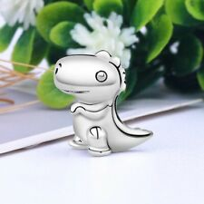 925 STERLING SILVER DINO THE DINOSAUR CHARM & POUCH