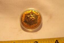 1980 CHINA LAKE PLACID 1 YUAN FIGURE SKATING BRASS PIEFORT REEDED RARE PROOF