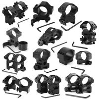 Various Tactical 25.4mm Scope Rings Mount For Weaver Picatinny Rail For Rifle LZ