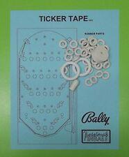 1972 Bally Ticker Tape pinball / bingo rubber ring kit