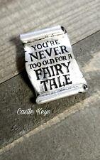 Fairy Tale Pendant Word Pendant Message Pendant Quote Pendant Silver Pendant *