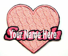 Pink Heart Custom Iron-on Patch With Name Personalized Free