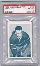 1952-53 Juniors Blue Tint Hockey Card Montreal #140 Les Lilley Graded PSA 6
