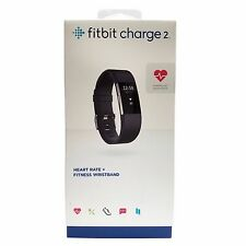 Fitbit Charge 2 Heart Rate & Activity Tracker Fitness Wristband - Black, Small