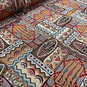AFRICAN Luxury Tapestry Fabric Curtain Upholstery Sofa Chair Cushion Material