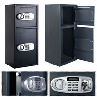 Large Electronic Safe Digital Keypad Cash Box Home Gun Safe Jewelry Papers Lock