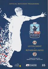 PLAY OFF FINAL 2014 LEYTON ORIENT v ROTHERHAM LEAGUE 1 ONE MINT PROGRAMME