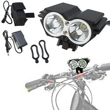 5000 Lumens 2x CREE XM-L U2 LED Cycling Bicycle White Light Headlamp HeadLight
