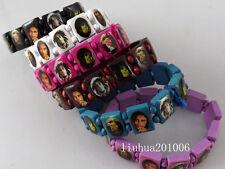 Wholesale 36 pcs Mixed color Bob Marly Wood stretch bracelets Fashion Jewelry