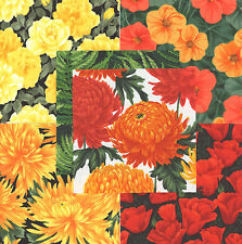 "Flowers 30 4"" fabric squares 100% cotton quilting floral Timeless Treasure"