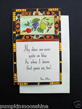 #G380- Vintage Unused Rust Craft Xmas Greeting Card Nan Allen Quote & Fruit