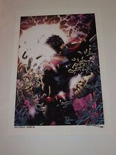 2013 SDCC SUPERMAN DAILY - WEDNESDAY ART PRINT BY JIM LEE & SINCLAIR 13x19 AP2/5