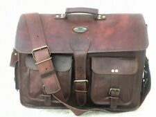 Messenger Laptop Bag Computer Universal Shoulder Bag for Men Vintage Leather