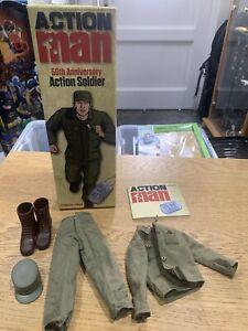 ACTION MAN 50TH ANNIVERSARY AM712 SOLDIER HASBRO BOX & UNIFORM ONLY GI JOE