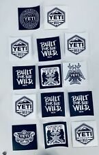 Authentic Yeti Stickers/Decals - Lot Of 14-Free Shipping