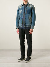 NWT Diesel IABDUL Mens FADED Dirty Distressed Denim Jeans Jacket L LARGE $498