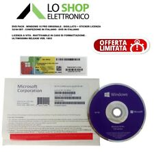 DVD Pack Windows 10 Pro - Professional 32/64 Bit + Sticker Licenza - Product Key