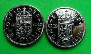 A  PROOF  MINT  UNC  PAIR  *1970*  SHILLINGS  1/- ...LUCIDO_8  COINS