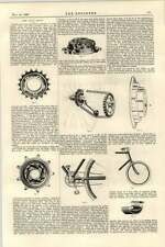 1899 Cycle Show Innovations Sprockets Chains Steering Bearings