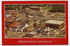 CONCORD NC early Town Aerial View #2 z postcard