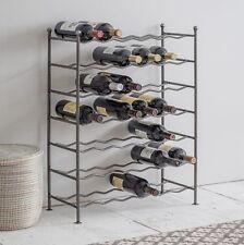 Deluxe 42 bottiglia grande vino rack non associate in metallo-Zig Zag Storage titolare bar