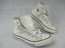 Converse All Stars UK F 6.5 M 4.5 White Canvas Unisex Hi Top Trainer Lace Up