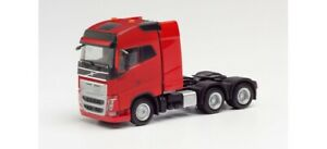 Volvo FH GL Heavy-Haul Truck dual drive axle RED HO 1/87 Scale HERPA 312387
