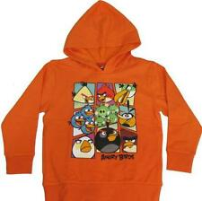Angry Birds Pullover Hoodie 8 M 10-12 L 14-16 XL  New childs Sweatshirt Orange