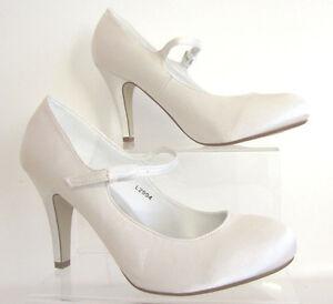 Anne Michelle L2R994 Femmes Escarpin Blanc Mariage, Demoiselle Chaussures (R6A)