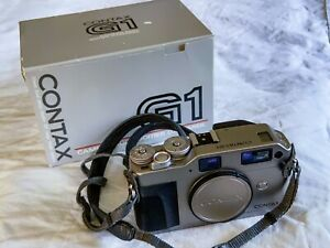 Contax G1, body only with original box, strap and body cap