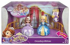 DISNEY PRINCESS SOFIA THE FIRST DANCING SISTERS FIGURES DOLL 2-PACK NEW!