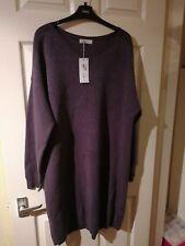 Marks and Spencers Per Una Grey and Silver Fleck Midi Jumper Dress Size 18 Bnwt