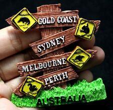 Australia Gold Coast Sydney Melbourne Perth Fridge Magnet Sculpture Souvenir New