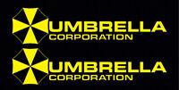 2 Yellow Umbrella Corporation Hive Resident Evil Vinyl Sticker Car  Window Decal