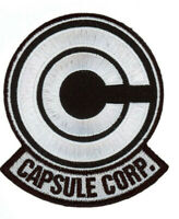 """Capsule Corp 2.75""""x 2.25"""" Dragon Ball Z Embroidered Iron On Patch Black//White"""