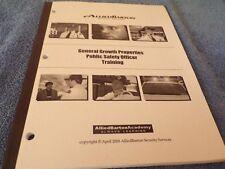 General Growth Properties: Public Safety Officer Training Handbook