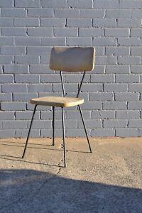 Vintage Mid century  yellow kitchen chair 50s tubular steel